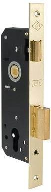 Корпус замка врезного цилиндрового 152/R (35 mm) w/b (латунь)